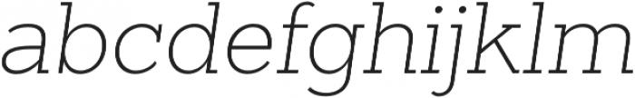 Sanchez Slab ExtraLight Italic otf (200) Font LOWERCASE