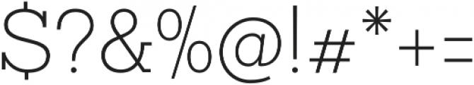 Sanchez Slab ExtraLight otf (200) Font OTHER CHARS