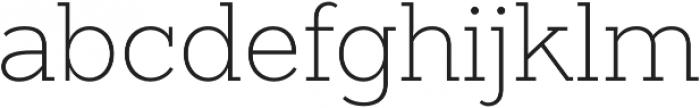 Sanchez Slab ExtraLight otf (200) Font LOWERCASE