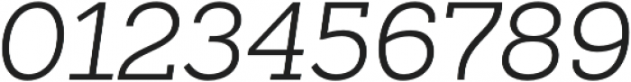 Sanchez Slab Light Italic otf (300) Font OTHER CHARS