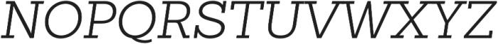 Sanchez Slab Light Italic otf (300) Font UPPERCASE