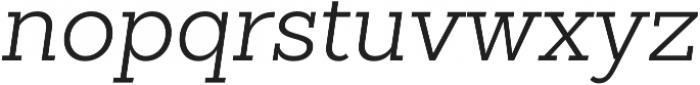 Sanchez Slab Light Italic otf (300) Font LOWERCASE