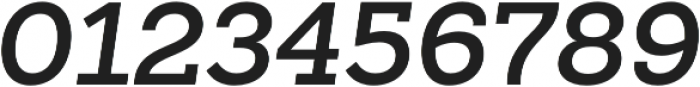 Sanchez Slab SemiBold Italic otf (600) Font OTHER CHARS