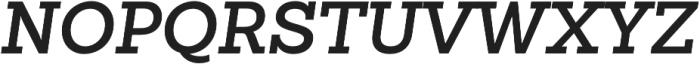 Sanchez Slab SemiBold Italic otf (600) Font UPPERCASE