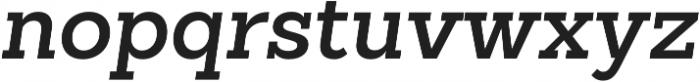 Sanchez Slab SemiBold Italic otf (600) Font LOWERCASE