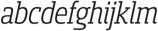 Sancoale Slab Cond Regular Ital otf (400) Font LOWERCASE