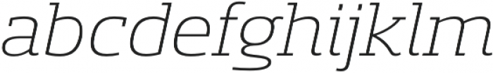 Sancoale Slab Ext Light Ital otf (300) Font LOWERCASE