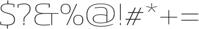 Sancoale Slab Ext Thin otf (100) Font OTHER CHARS