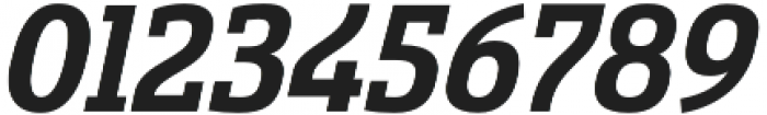 Sancoale Slab Norm Bold Ital otf (700) Font OTHER CHARS