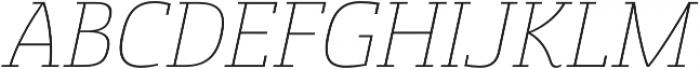 Sancoale Slab Norm Thin Ital otf (100) Font UPPERCASE