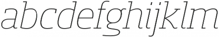 Sancoale Slab Norm Thin Ital otf (100) Font LOWERCASE