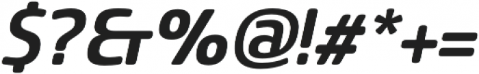 Sancoale Softened Bold Ital otf (700) Font OTHER CHARS