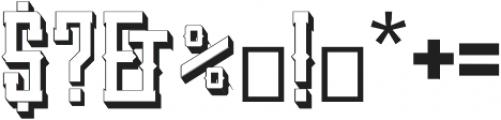 SanctumShadow otf (400) Font OTHER CHARS