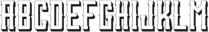 SanctumShadow otf (400) Font UPPERCASE