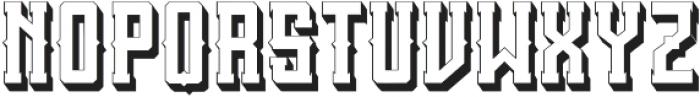 SanctumShadow otf (400) Font LOWERCASE