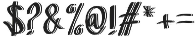 Sandbrain 3D otf (400) Font OTHER CHARS