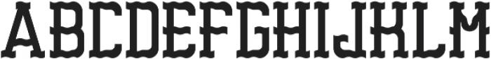 Sandford Regular otf (400) Font UPPERCASE