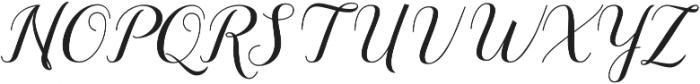 Sandhya otf (400) Font UPPERCASE