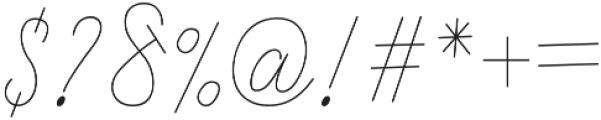 SandrineThin otf (100) Font OTHER CHARS