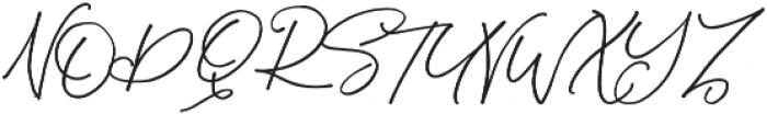 Sandy Brown otf (400) Font UPPERCASE