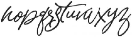 Sandy Brown otf (400) Font LOWERCASE