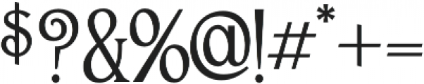 Sandyford otf (400) Font OTHER CHARS
