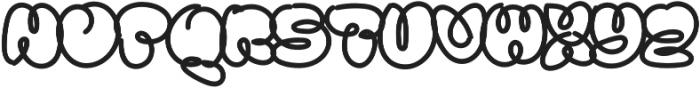 Sanflava Bold otf (700) Font UPPERCASE