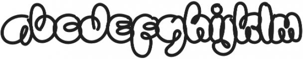 Sanflava Bold otf (700) Font LOWERCASE