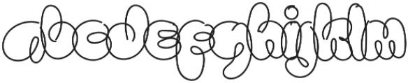 Sanflava otf (400) Font LOWERCASE