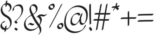 Sanggria otf (400) Font OTHER CHARS