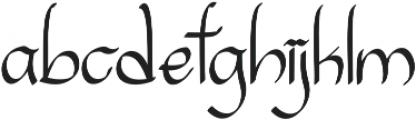 Sanggria otf (400) Font LOWERCASE
