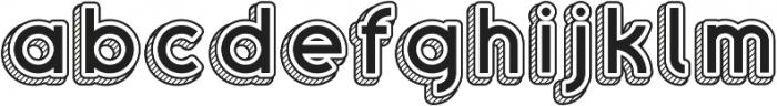 Sans One Vintage ttf (400) Font LOWERCASE