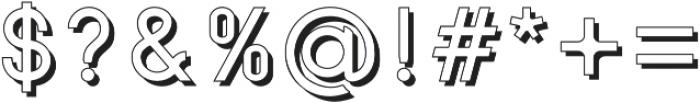 SansOne Regular Shadow Line otf (400) Font OTHER CHARS