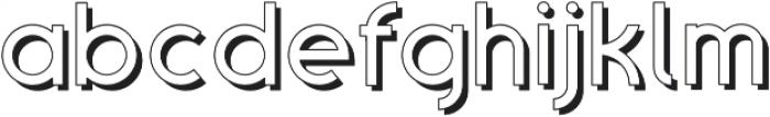 SansOne Regular Shadow Line otf (400) Font LOWERCASE