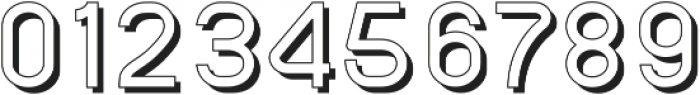 SansOne Regular Shadow Line ttf (400) Font OTHER CHARS