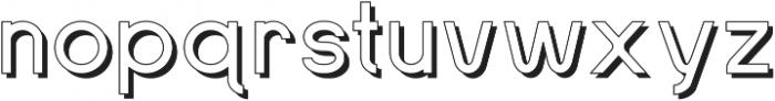 SansOne Regular Shadow Line ttf (400) Font LOWERCASE