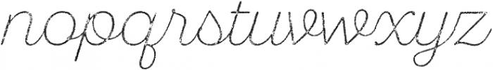 SantElia Rough Alt ExLight Thr otf (300) Font LOWERCASE