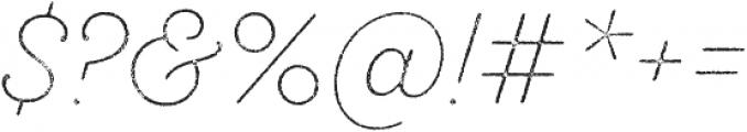 SantElia Rough ExLight Thr otf (300) Font OTHER CHARS