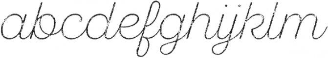 SantElia Rough ExLight Thr otf (300) Font LOWERCASE