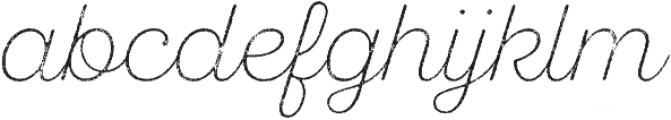 SantElia Rough ExLight Two otf (300) Font LOWERCASE