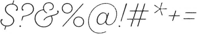 SantElia Rough ExLight otf (300) Font OTHER CHARS