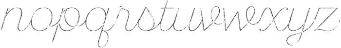 SantElia Rough Line Thr otf (400) Font LOWERCASE