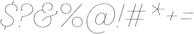 SantElia Rough Line otf (400) Font OTHER CHARS