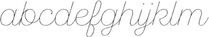 SantElia Rough Line otf (400) Font LOWERCASE