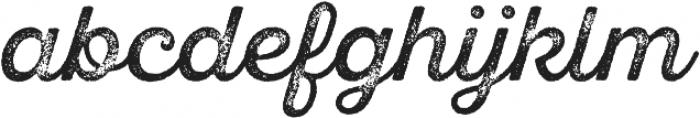 SantElia Rough Regular Thr otf (400) Font LOWERCASE