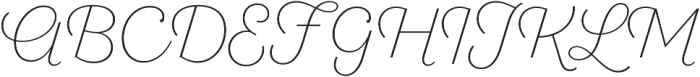 SantElia Script Alt ExLight otf (300) Font UPPERCASE