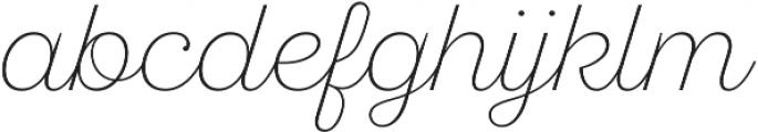 SantElia Script Alt ExLight otf (300) Font LOWERCASE