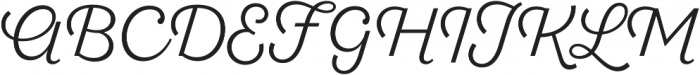 SantElia Script Alt Light otf (300) Font UPPERCASE