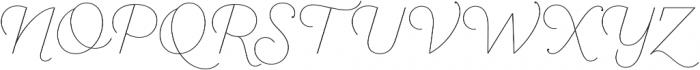 SantElia Script Line otf (400) Font UPPERCASE
