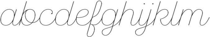 SantElia Script Line otf (400) Font LOWERCASE
